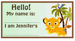 lion king baby shower 20 lion king baby simba baby shower name tags ebay