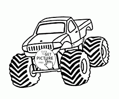 monster truck bounty hunter coloring page for kids transportation