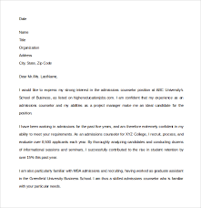 admissions counselor cover letter 28 images admissions