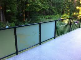 Glass Patio Fencing Frosted Glass Railing Base Shoe Railing Indoor Frosted Glass