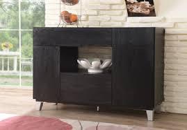 buffet table sideboard server black mid century modern furniture