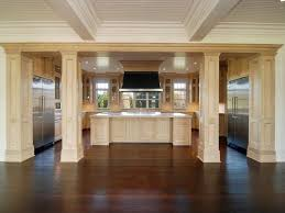 kitchen islands with columns traditional kitchen with simple granite counters crown molding