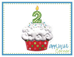 applique corner applique design cupcake birthday number candle