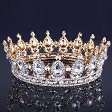 wedding crowns luxury vantage gold wedding crown alloy bridal tiara baroque