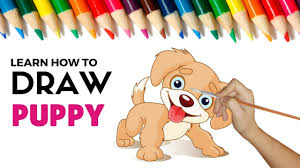 drawing and coloring a cute puppy made easy coloring pages for