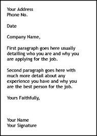 sample writing how to write a cover letter for a job application