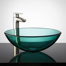 undermount glass bathroom sinks befon for