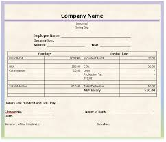 simple salary receipt template samples vlashed