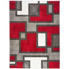 Modern Geometric Rugs Well Woven Ruby Imagination Squares 5 Ft 3 In X 7 Ft 3 In