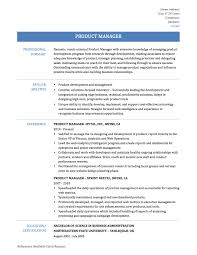 Sample Resume Objectives For Landscaping by Product Management Resume Samples Resume For Your Job Application