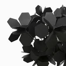 black flower black flower mysterious modern black flower covered floor l