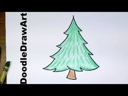 drawing how to draw cartoon pine trees easy to draw for