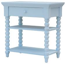 alexander spindle table baby blue beach style nightstands and