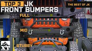 jeep aftermarket bumpers the 3 best jeep wrangler bumpers for 2007 2017 jk unlimited