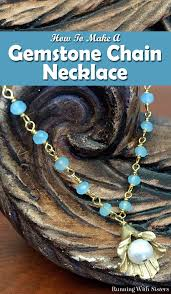 make chain necklace images How to make pendant necklace with gemstone chain running with jpg