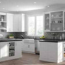 white kitchen cabinet with glass doors hton bay designer series elgin assembled 36x30x12 in