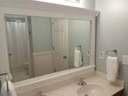 How To Build A Frame Around A Bathroom Mirror Crown Molding Mirror Frame Diy Crown Molding Around Mirror Bimini