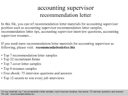 brilliant ideas of cover letter for accounting supervisor position