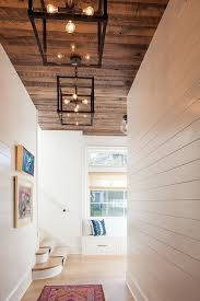 bathroom wood ceiling ideas with shiplap walls and reclaimed shiplap wood ceiling