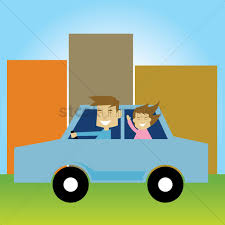 teal car clipart free father driving a car with daughter vector image 1271680
