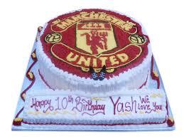manchester united logo birthday cake cakerstreet