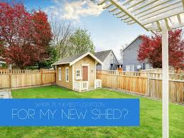 what is the best location for my new shed superior sheds
