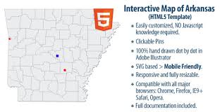of arkansas cus map map of arkansas by clickmaps codecanyon