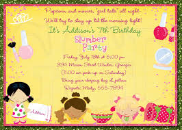 make your own party invitation slumber party invitation wording ideas cloveranddot com