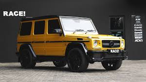 mercedes g class brabus crazy color yellow g63 amg with brabus parts by race autoevolution