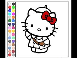 kitty games kitty coloring game
