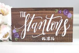 Save The Date Signs Family Name Established Sign Rustic Wedding Sign Save The Date