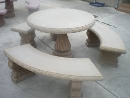 Round Patio Table by Concrete Patio Furniture Round Table U2014 Home Ideas Collection