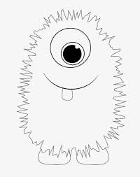 draw background printable monster coloring pages for cute monster
