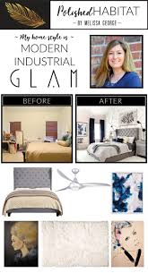 modern industrial glam home style before after photos do you love mixing girly glam details with a more downtown industrial feel your home