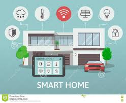 smart home flat design style illustration concept of smart house