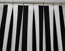 Grey And White Striped Shower Curtain Amazon Com Black And White Vertical Stripe Drape One Rod Pocket