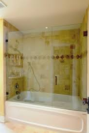 Glass Shower Doors Canada Frameless Shower Door With Splash Panel For Tub Contemporary