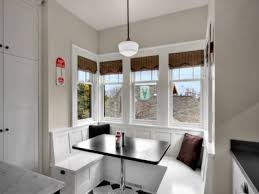 white kitchen nook home design styles