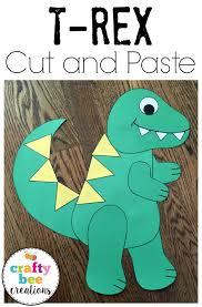 tyrannosaurus rex cut and paste dinosaur pattern dinosaur