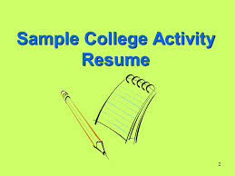 Activity Resume 1 Junior Year College Planning Tips 1 Review And Complete College