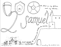clever design samuel coloring page samuel anoints david as king