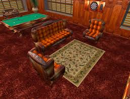 Victorian Leather Sofa Second Life Marketplace Victorian Period Leather Sofa Set