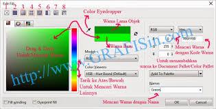 membuat gambar transparan di corel draw x7 efek warna pada fill objek di coreldraw x7 grafisin tutorial
