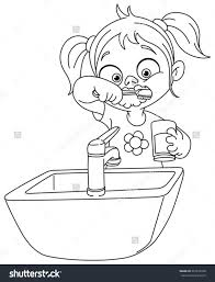 vector of a cartoon missing tooth holding coin from the fairy