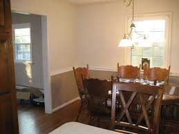 Dining Room Wall Color Ideas Dining Room Two Tone Walls With Chair Rail All Furniture