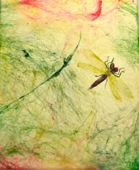 dragonfly art mixed media art home by eclecticwandering on zibbet
