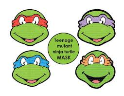 instant dl teenage mutant ninja turtles mask printable