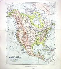 Old Mexico Map by Old Victorian Antique Prints And Maps