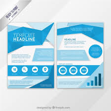 blue origami flyer template free vector free resources