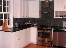 wonderful simple black and white kitchen color idea for small l